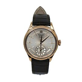Rolex Cellini Dual Time 18K Rose Gold Watch 50525
