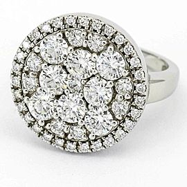Women's Diamond Cluster Round Cocktail Ring 14-karat White Gold (3.75 ct. t.w.)