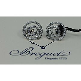 Breguet Diamond 18K White Gold Earrings