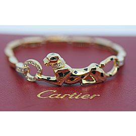 Cartier Panthere Diamond 18K Yellow Gold Bracelet