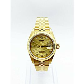Rolex Ladies President Datejust 69178 RARE Chevrolet Dial 18K Yellow Gold MINT