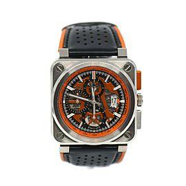 Bell & Ross Aviation Aero GT Chronograph Stainless Steel Watch BR03-94-Orange
