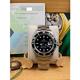 Rolex Submariner Date 16610 Black Dial Stainless Steel Box Papers 2005