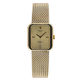 Rolex Cellini Geneve 4335 Vintage 18K Gold Manual Wind Square Lady's Watch