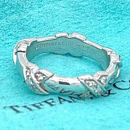Tiffany & Co Diamond Signature X Ring in 18kt White Gold