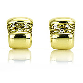 Charles Turi Vintage Diamond Earrings in 18k Yellow Gold