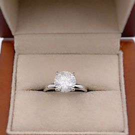 Round Brilliant Diamond 2.00 cts Solitaire Engagement Ring 14kt White Gold