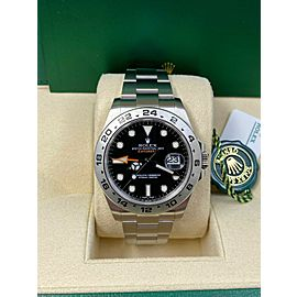 Rolex Explorer II 216570 Black Dial Stainless Steel 42mm Box Papers 2017