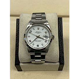 Rolex Date 15200 White Dial Stainless Steel Box Papers 2006