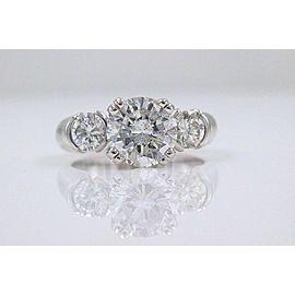 Three Stone Diamond Engagement Ring Round 2.93 tcw 18k White Gold $20,000 Retail