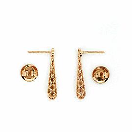 Gucci Diamantissima 18k Pink Gold Fancy Drop Dangle Earrings