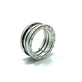 Bvlgari B.zero1 Triple Spiral Band 18k White Gold Ring Size 56 US 7.25