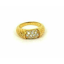 Van Cleef & Arpels Diamond 18k Yellow Gold Band Ring