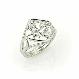 Hearts On Fire 18k White Gold Diamonds Open Design Ring