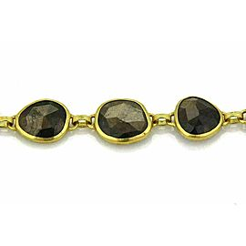 Gurhan 68.20ct Brown Sapphire 24k Gold Fancy Link Bracelet