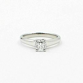 Tiffany & Co Lucida Platinum Diamond Engagement Ring 0.53 ct F VVS2 $8000 Retail
