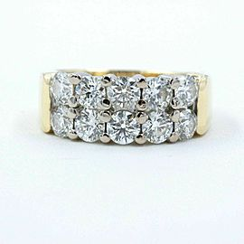 Hearts on Fire Enchantment 10 Diamond Double Row Band Ring 1.50 tcw 18K YG