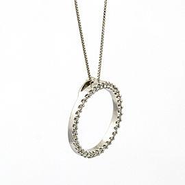"Roberto Coin Medium Diamond ""Circle of Life"" Pendant 18k White Gold (0.43 ct tw)"