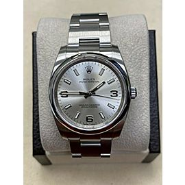 Brand New Rolex Oyster Perpetual 114200 Stainless Steel Box Paper STICKERS