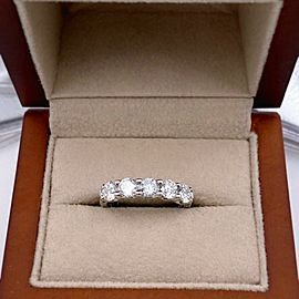 ROBERTO COIN Cento Round Diamond 5 Stone Band Ring 1.30 tcw Platinum