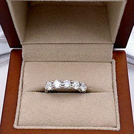 ROBERTO COIN Cento Round Diamond 5 Stone Band Ring 1.30 tcw Platinum