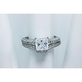 Tacori Crescent Diamond Engagement Ring Wedding Band Set Platinum