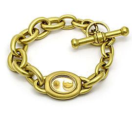 Kieselstein-Cord Intaglio Oval Link Toggle Bracelet in 18k Yellow Gold