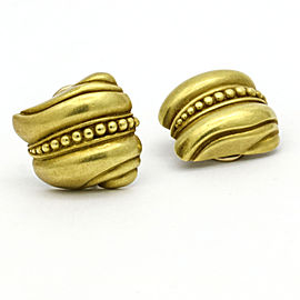 Kieselstein-Cord Small Shell Swirl Clip-On earrings in 18k Yellow Gold