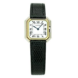 Vintage Cartier Ceinture Women's Two-Tone Manual Wristwatch 18k Gold