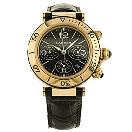 Cartier Pasha Seatimer Men's Chronograph Watch 18K Rose Gold Automatic W3030018
