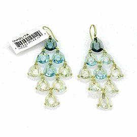 Ippolita Gemma Cascade Blue Topaz & Quartz 18k Gold Earrings -