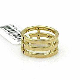 Ippolita Glamazon Orange Sapphire & Diamond 18k Gold Triple Band Ring