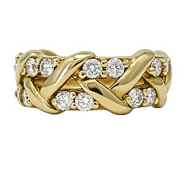 Jabel Diamond Band Ring in 19k Yellow Gold ( 1.00 ct tw ) Size 5