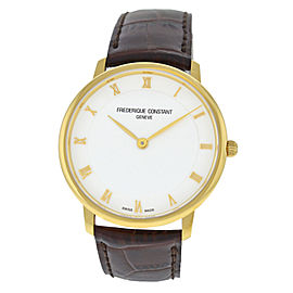 Men's Frederique Constant Slimline FC-200RS5S35 Gold Steel 39MM Quartz Watch