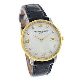 Men's Frederique Constant Slimline FC-220MPWD3S3 Diamond MOP 36MM Quartz Watch