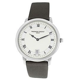 Unisex Frederique Constant Slimline FC-220M4S36 Steel MOP 37MM Quartz Watch