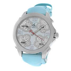 New Jacob & Co. Five Time Zone JCMATH12 Steel $13300 MOP Diamond 40mm. Watch