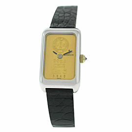 New Ladies Corum Ingot 5 Gram 14300 24K Yellow 18K White Gold Mechanical Watch