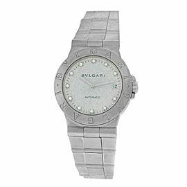 Men's Bvlgari Bulgari Diagono LCV35S Steel Diamond Date 36MM Automatic Watch