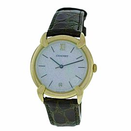 Ladies Chaumet 18K Yellow Gold MOP Quartz Date 32mm Watch