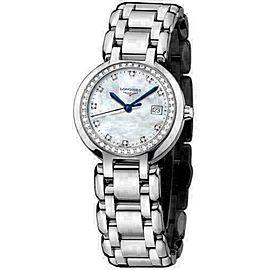New Ladies Longines Prima Luna L81100876 MOP Diamond Steel Watch $3,125 Quartz