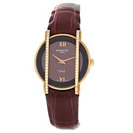 Ladies' Raymond Weil Othello 12021-GS-00480 18K Gold Diamond Quartz 28MM Watch