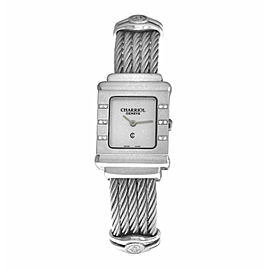 Ladies' Charriol St. Tropez STRS Sterling Silver MOP Diamond 20MM Quartz Watch