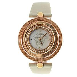 Versace EON 80Q81SD498 S002 Gold Tone Diamond Quartz 38MM MOP Watch