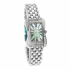 New Lady Maurice Lacroix Divina DV5011-SD552-160 Diamond MOP $2550 Quartz Watch
