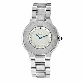 Ladies Cartier Must de Cartier 1330 Quartz Stainless Steel 31MM Watch
