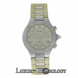 Ladies Cartier Chronoscaph 2996 Steel 32MM Date Quartz Watch