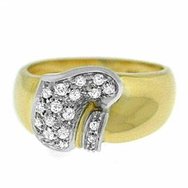 New Damiani Model: DAN29893 18K Yellow White Gold Diamond Size 8 $2,900 Ring