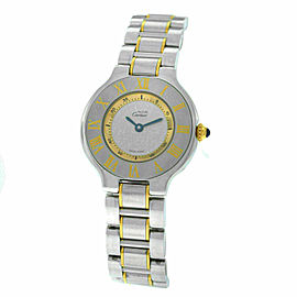Ladies Cartier Must de Cartier 1340 Ref. W10073R6 Quartz Steel Gold 28MM Watch
