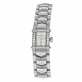 Ladies' Charriol COLVMBVS COLUMBUS INTRM9 Steel MOP Diamond 15MM Quartz Watch